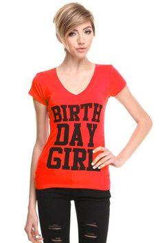 *Custom* Happy Birthday Tshirt - Red