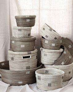 Eileen Fisher Senegal Baskets – neutral, modern, spa-worthy baskets. So classy.