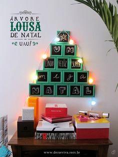 árvore de natal diferente feita com mini lousas | christmas