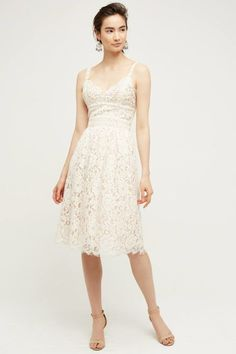 30 Little White Dresses That'll Get You Through Summer's Hottest Days: HD in Paris Narrante Lace Dress, $178; Anthropologie.