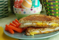 Got plenty of hard boiled eggs leftover from Easter? Grilled cheese and egg sandwich!