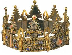 Relic Crown of St. Louis  This crown is of ancient medieval origin and is said to contain a piece of the true cross of Christ, imbuing it with reliquary status. Called the Crown of St. Louis, it's made of gold and silver and set with precious stones.