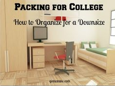 Packing for college with a downsize in mind is not what most parents might think. But moving to campus is a major life event that demands thoughtful organization. In this case involves both partne… College Mom, College Packing, College Years, College Hacks, College Dorm Rooms, College Survival, Packing Lists, Get Educated, Dorm Life