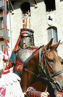Giostra del Saracino ( Arezzo ) -  Il Capitano del Quartiere di Porta Crucifera