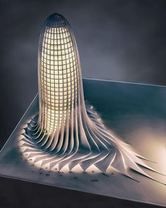 Office tower design and visualization by Mohanad Albasha. Tools used: Autodesk Max, Adobe Photoshop . to be feature Parametric Architecture, Parametric Design, Futuristic Architecture, Contemporary Architecture, Architecture Design, Classical Architecture, Landscape Architecture, Unique Buildings, Beautiful Buildings