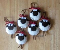 Giorgio the Sheep Ornament Felt by MartianiQue on Etsy