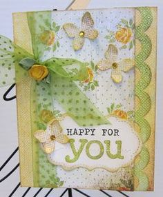 Happy for You card by Paradise Scrapbook Boutique in Chico, CA.
