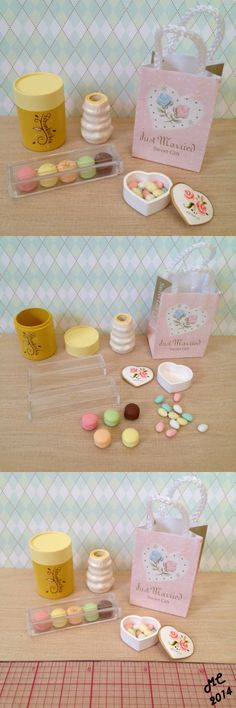 Elegant Sweets #8 Macarons (Rement, Barbie, Japanese miniature dessert, French, Parisian, dollhouse, jordan almonds.)