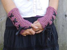 Beautiful Handmade Crochet Fingerless Gloves Womens by Wenterfarms
