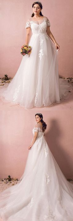 Only $258.99, Plus Size Wedding Dresses Boho Lace A Line Beach Wedding Dress Plus Size With Sleeves 2018 #MN8027 at #GemGrace. View more special Beach Wedding Dresses,Wedding Dresses with Sleeves,Plus Size Wedding Dresses now? GemGrace is a solution for those who want to buy delicate gowns with affordable prices. Free shipping, 2018 new arrivals, shop now to get $20 off!