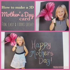 How to make a 3D Mother's Day Card with the kids :).