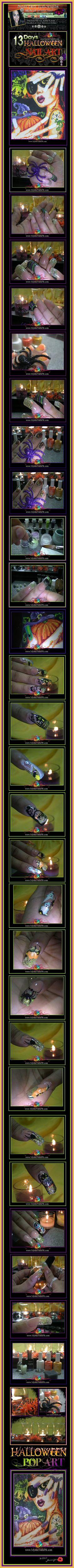 13 Days of HALLOWEEN  Nail Art Designs by Jennifer Perez of Mystic Nails