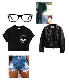 """""""Untitled #72"""" by malerie-thomason on Polyvore featuring Ray-Ban, women's clothing, women's fashion, women, female, woman, misses and juniors"""