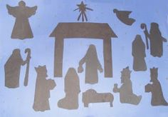 Outdoor Wooden Nativity Patterns | More information about Free Nativity Scene Patterns on the site: http ...