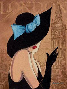 дама в шляпе, предпросмотр