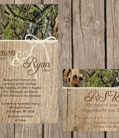 Invitation http://www.etsy.com/listing/153198204/rustic-camo-wedding-invitation-camo