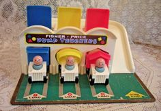 Vintage 1965 Fisher Price Little People Dump Truckers #979 COMPLETE w/pong balls  | eBay