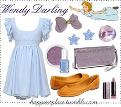 """Wendy Darling"" by disneyinspired ❤ liked on Polyvore"