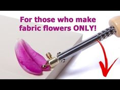 """DIY How to create fabric flowers: Lesson#2 """"China Rose"""" ❤  https://www.youtube.com/watch?v=kzO1P9yw7vA"""