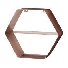 Copper Hexagonal Shelves