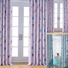1 Panel Starfish Drapes Kids Bed Room Blockout Curtain Fabric Eyelet Pleats #Unbranded #Modern