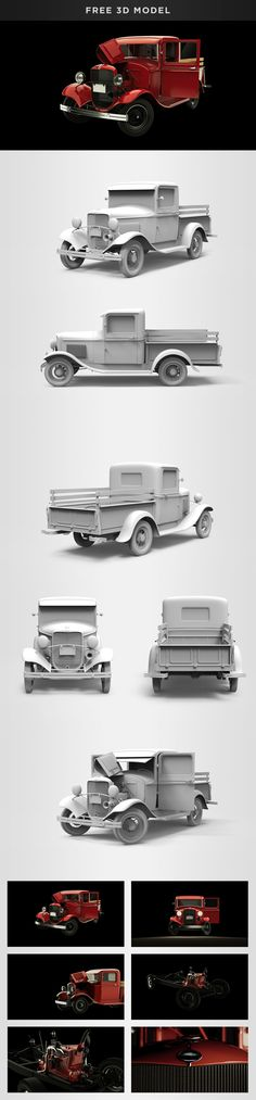 "Check out my @Behance project: ""Ford Model B Pickup (1932) - Free 3D model"" https://www.behance.net/gallery/56993245/Ford-Model-B-Pickup-(1932)-Free-3D-model"