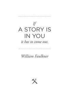 I am telling my story