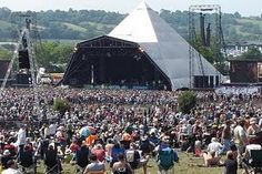 The Glastonbury Festival is one of the world's largest music festivals and it happens every June in Pilton, England. A few days of hundreds of thousands of people enjoying music, mud fights, good food and a massive field of tents.