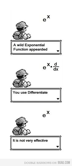 HA calculus and pokemon jokes. I am officially a nerd. good way to remember the derivative of a natural log ; Math Puns, Math Memes, Science Jokes, Math Humor, Physics Humor, Funny Math Jokes, Chemistry Jokes, Science Fun, Nerd Jokes
