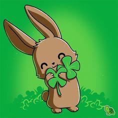 Hug the clover all over. #TeeTurtle #Bunny #Clover #StPatricksDay