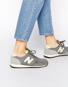 Buy New Balance 420 Grey Vintage Trainers at ASOS. Get the latest trends with ASOS now. Mode Shoes, Sneakers Mode, Best Sneakers, Casual Sneakers, Sneakers Fashion, Grey Sneakers, Leather Sneakers, Shoes Sneakers, New Balance 420