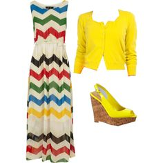 A fashion look from August 2012 featuring Dorothy Perkins dresses, Zenggi cardigans and Kenneth Cole sandals. Browse and shop related looks.