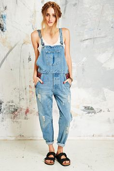 Native Rose Tapestry Denim Dungarees