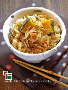 かぼちゃと生姜の炊き込みご飯
