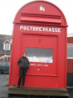 Giant Santa post box in Nuuk, Greenland #Christmas #kids