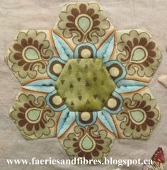 fussy cutting hexagons - Google Search