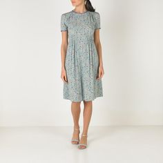 Wildlife Ditsy Pleat Detail Viscose Dress | Dresses | CathKidston