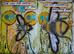 Art journal page by kidmandesign