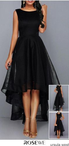 Sleeveless High Waist Mesh Patchwork Black Dress – Diet and Slimming Simple Dresses, Elegant Dresses, Pretty Dresses, Beautiful Dresses, Casual Dresses, Fashion Dresses, Dresses For Sale, Dresses Online, Evening Dresses