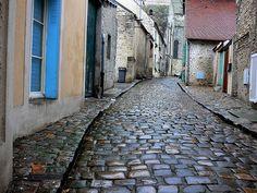 Cobblestone Street by Verona Cobblestone Driveway, Under Bridge, Roads And Streets, Stone Street, Street Image, Stone Path, Sicily Italy, Paving Stones, Places