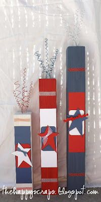 The Happy Scraps: 4 x 4 4th of July Firecrackers