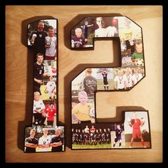 Soccer collage, Custom Athlete Sports Photo Collages, sports collage on 12 inch wooden numbers. Soccer GiftsSports GiftsSenior DaySenior Night ...