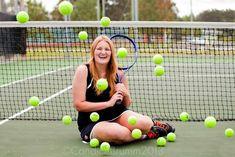 Senior pictures with tennis balls