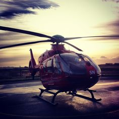 Our South Wales helicopter, based in Swansea, ready for activation. A privilege to assist