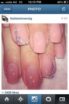 Pretty pink bridesmaid nail colour