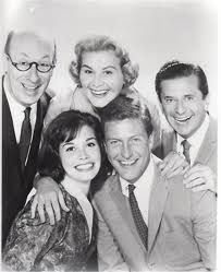 Dick Van Dyke, Mary Tyler Moore, Rose Marie, Morey Amsterdam, Larry Mathews, Richard Deacon, Jerry Paris, Ann Morgan Guilbert, Joan Shawlee  The Dick Van Dyke Show was a TV sitcom that initially aired on CBS from Oct 3 1961 until June 1, 1966. It was created by Carl Reiner and produced by Reiner with Bill Persky and Sam Denoff. The music for the show's theme song was written by Earle Hagen. A three-camera / studio audience format was used during production.