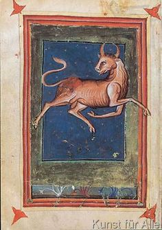 italienisch Buchmalerei - Tierkreis, Stier / aus Zothorus