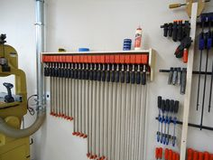 How to Make a Bessey and Jet Parallel Clamp Rack and Storage Shelf | The Wood Whisperer