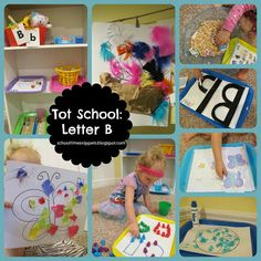 School Time Snippets: Tot School: Letter B Toddler Learning, Toddler Preschool, Toddler Activities, Learning Activities, Teaching Kids, Letter B Activities, Letter Recognition Games, Letter School, Preschool Literacy