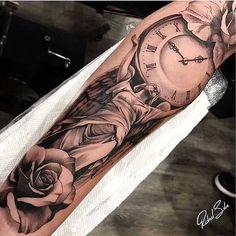 "2,602 Synes godt om, 7 kommentarer – Em Morris (@artisticendeavorsem.morris33) på Instagram: ""Amazing artist Ridnel Silva @ridnelstattoo awesome angel clock rose a tattoo! @art_spotlight…"""